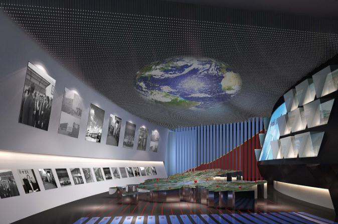 浅谈企业展厅设计的灯光布置要点